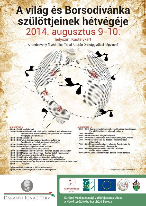 A világ és Borsodivánka szülöttjeinek hétvégéje